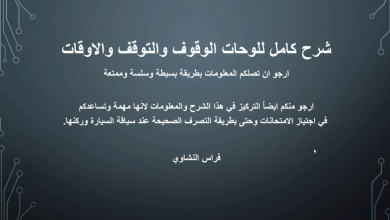 Photo of شرح لوحات الوقوف والتوقف والاوقات